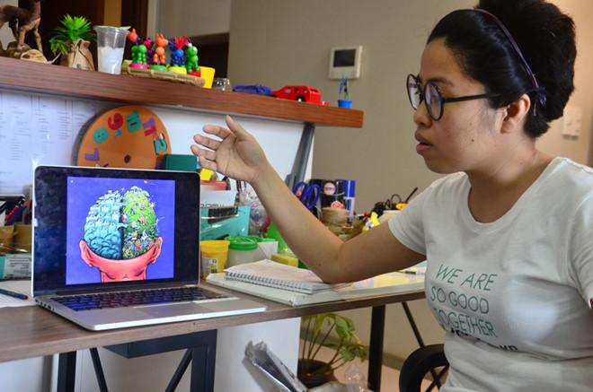 Chị Vân kể về bức ảnh làm chị ám ảnh và bắt đầu thực hiện dự án ngân hàng video giáo dục Trạng.