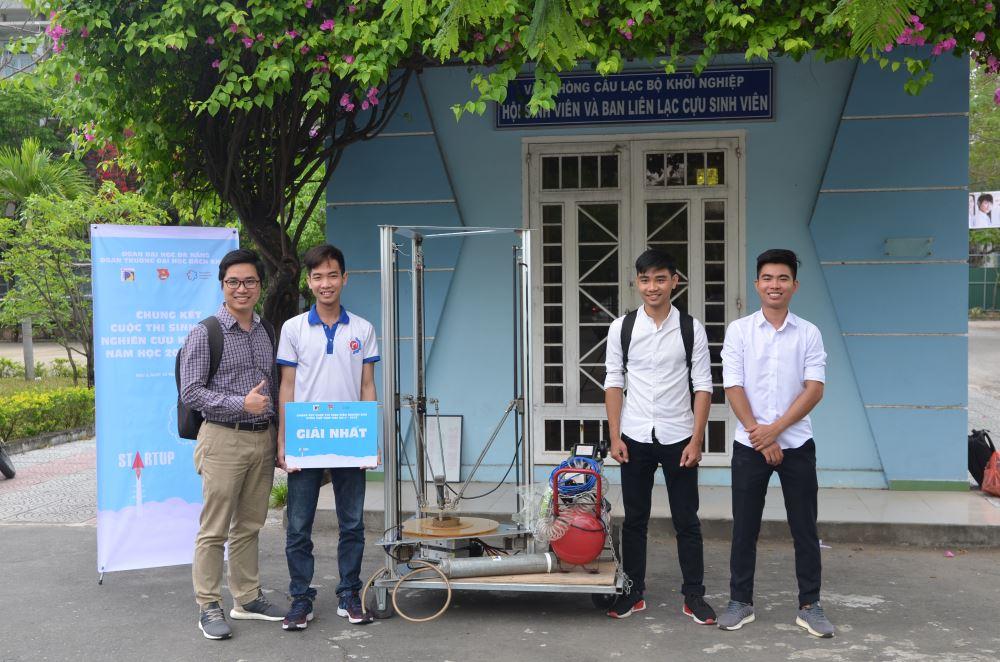 Sản phẩm được trao giải nhất cuộc thi Sinh viên nghiên cứu khoa học tại Đà Nẵng.