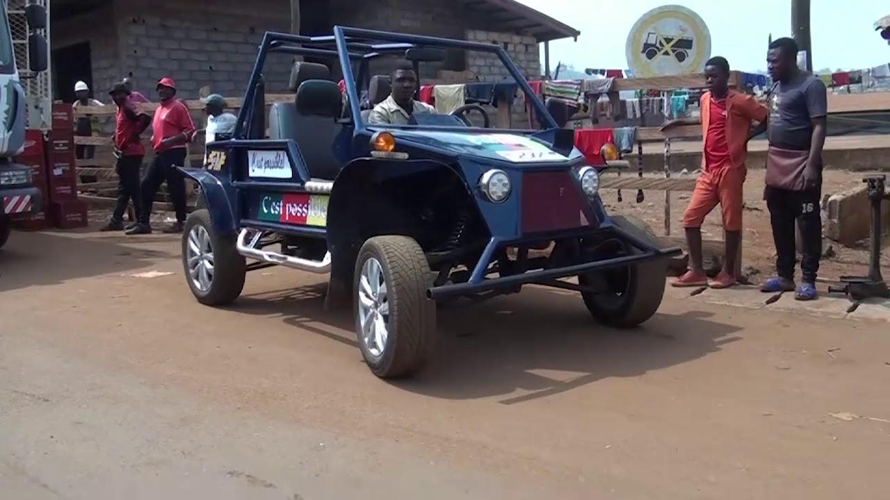 Cedric Simen là người thợ trẻ tuổi đã tạo ra chiếc xe này hoàn toàn từ phế liệu.
