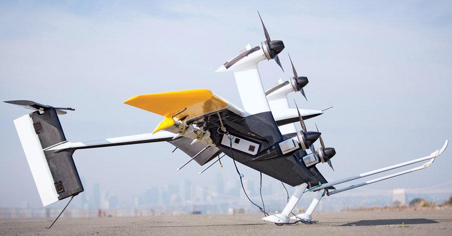 Wing7 có thể bay theo phương ngang và thẳng đứng nhờ vào thiết kế đặc biệt.