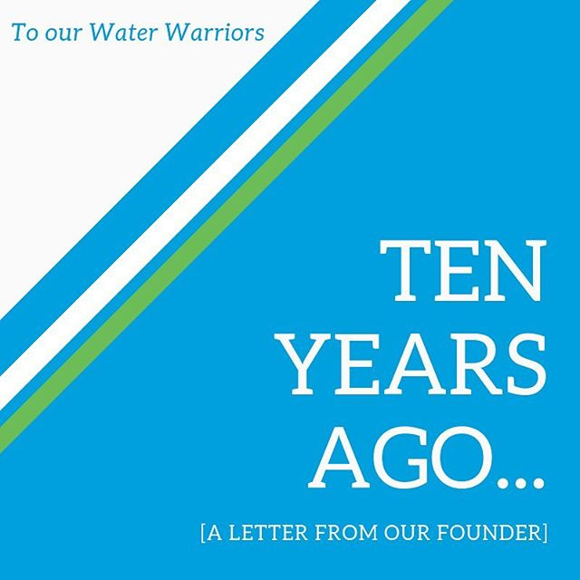 We want to thank our #WaterWarriors for an absolutely incredible 10 years, but the time has come to pass the torch onto those who can run harder and faster with these important #water projects. - - - Thank you for your time, donations, attention and most importantly, love. - - Click the link in our bio for the full story from our Founder. 💙