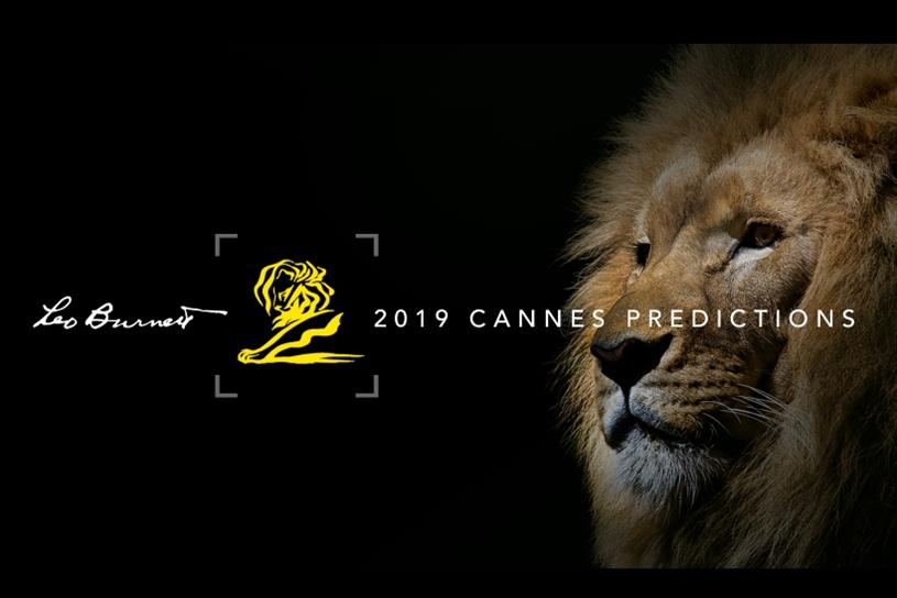 "CHeck out leo burnett's 2019 cannes lions predictions - June 10, 2019For its 32nd year, Leo Burnett has released its top 20 contenders for the Cannes Lions International Festival of Creativity, including ""Billie Jean King Your Shoes"" for Adidas by TBWA\Chiat\Day New York on the list."