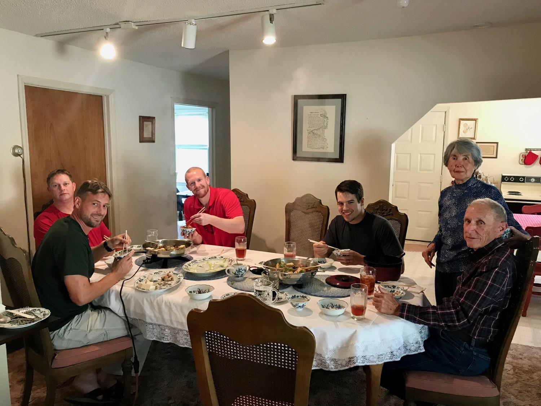 CVMA Black Belts enjoy a Japanese dinner with Mr. & Mrs. Mumpower