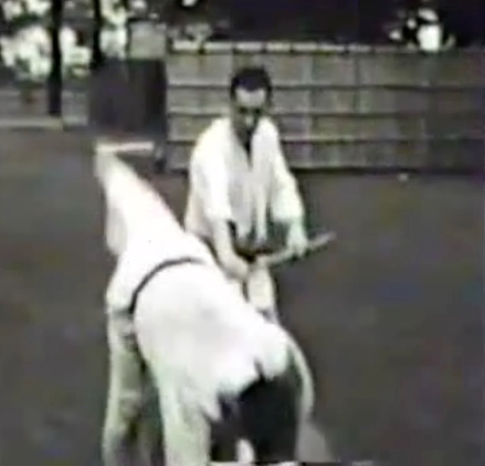 Mr. Mumpower practices jo applications of the 15 Basics with Mr. Ohba that would later be systematized into Koryu-dai San (1960).