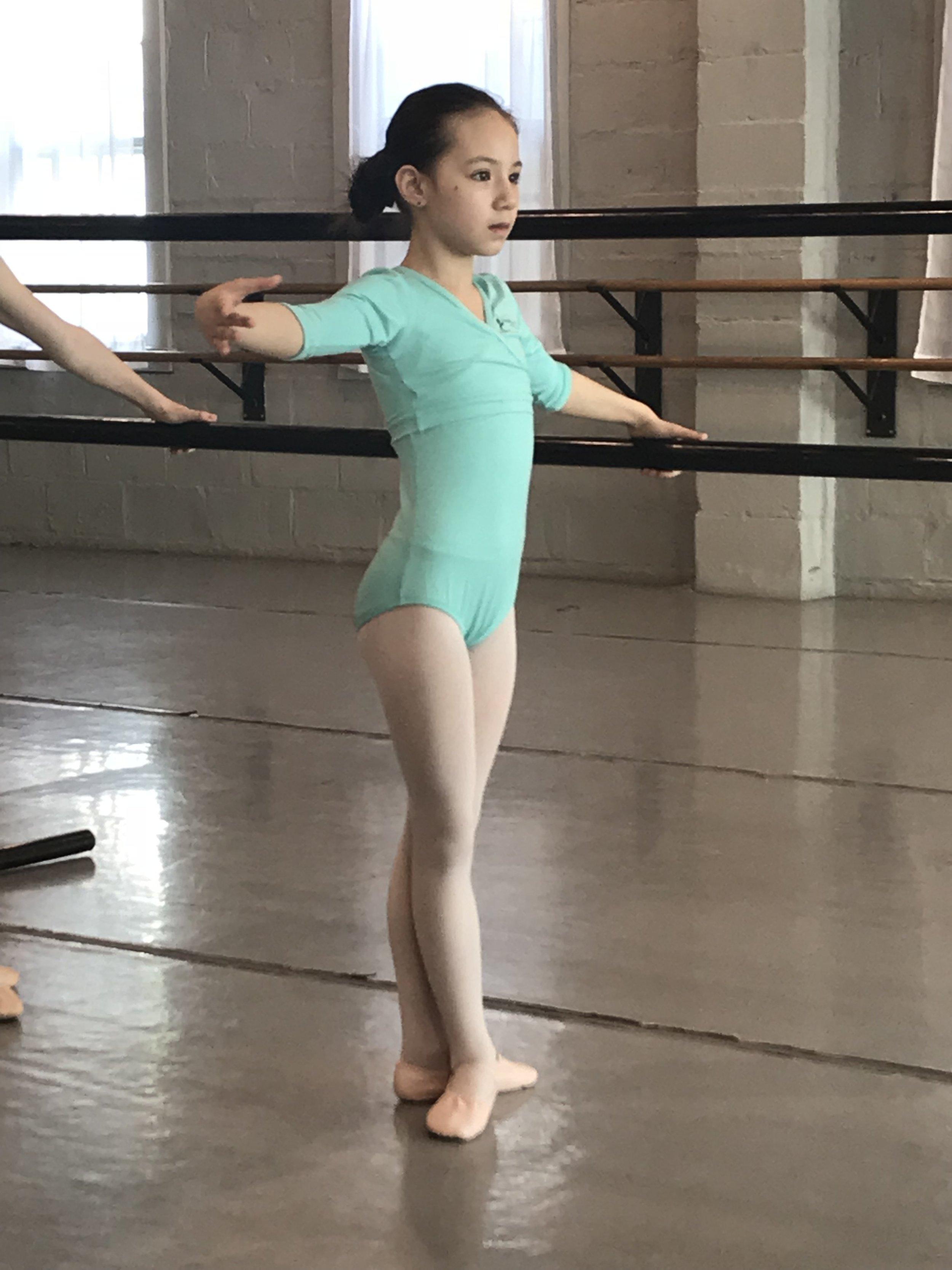Ladybug during the last day of her Ballet in Princeton Ballet - Parent Observation day.