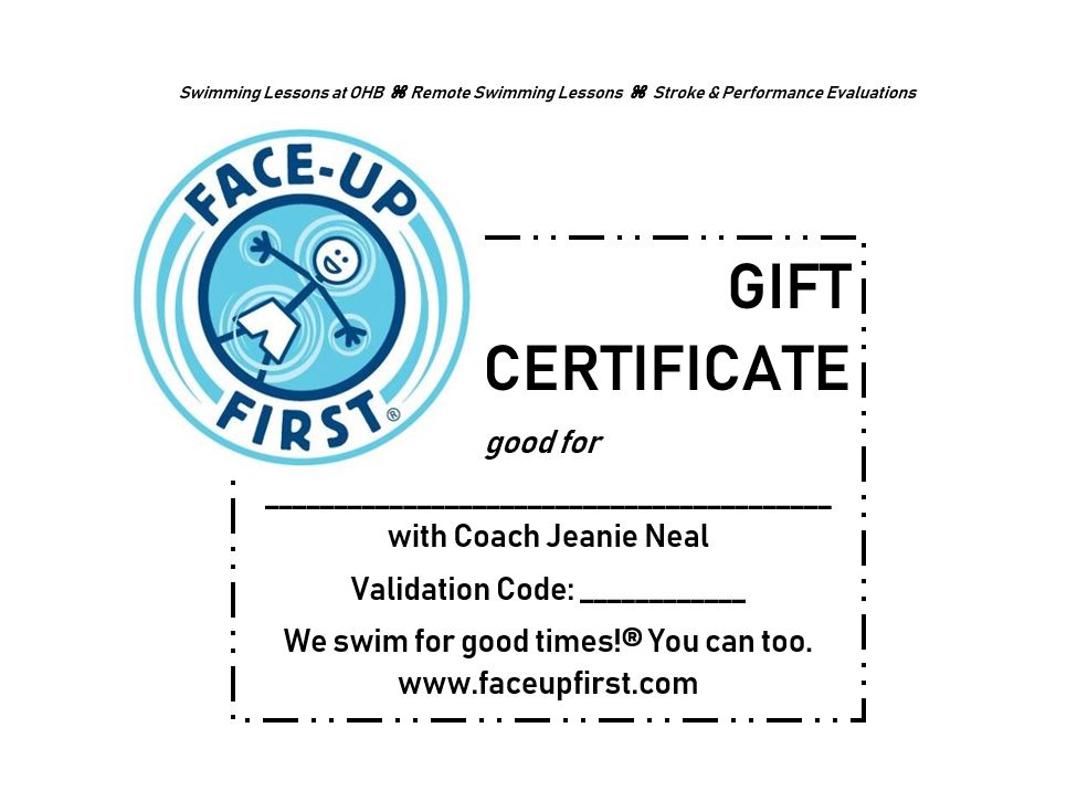 Gift certificates are valid for one year from date of issue.