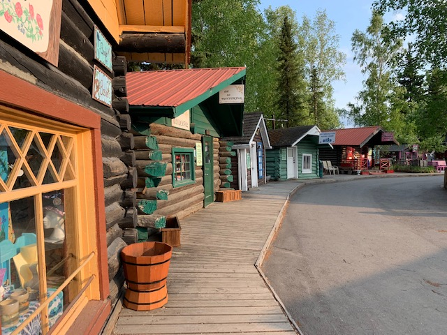 These cabins were moved here from their original Fairbanks locations