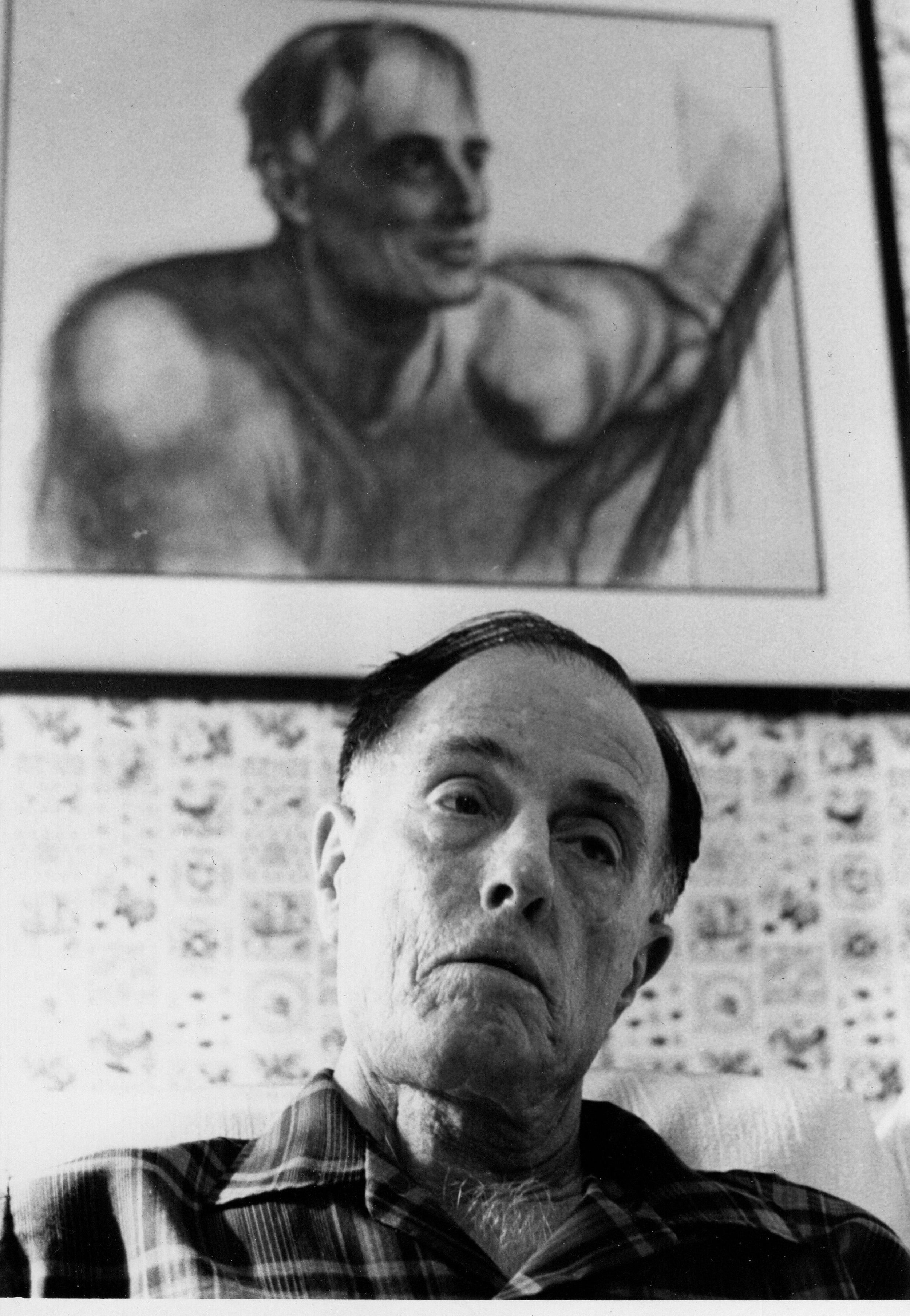 John at home, 1970