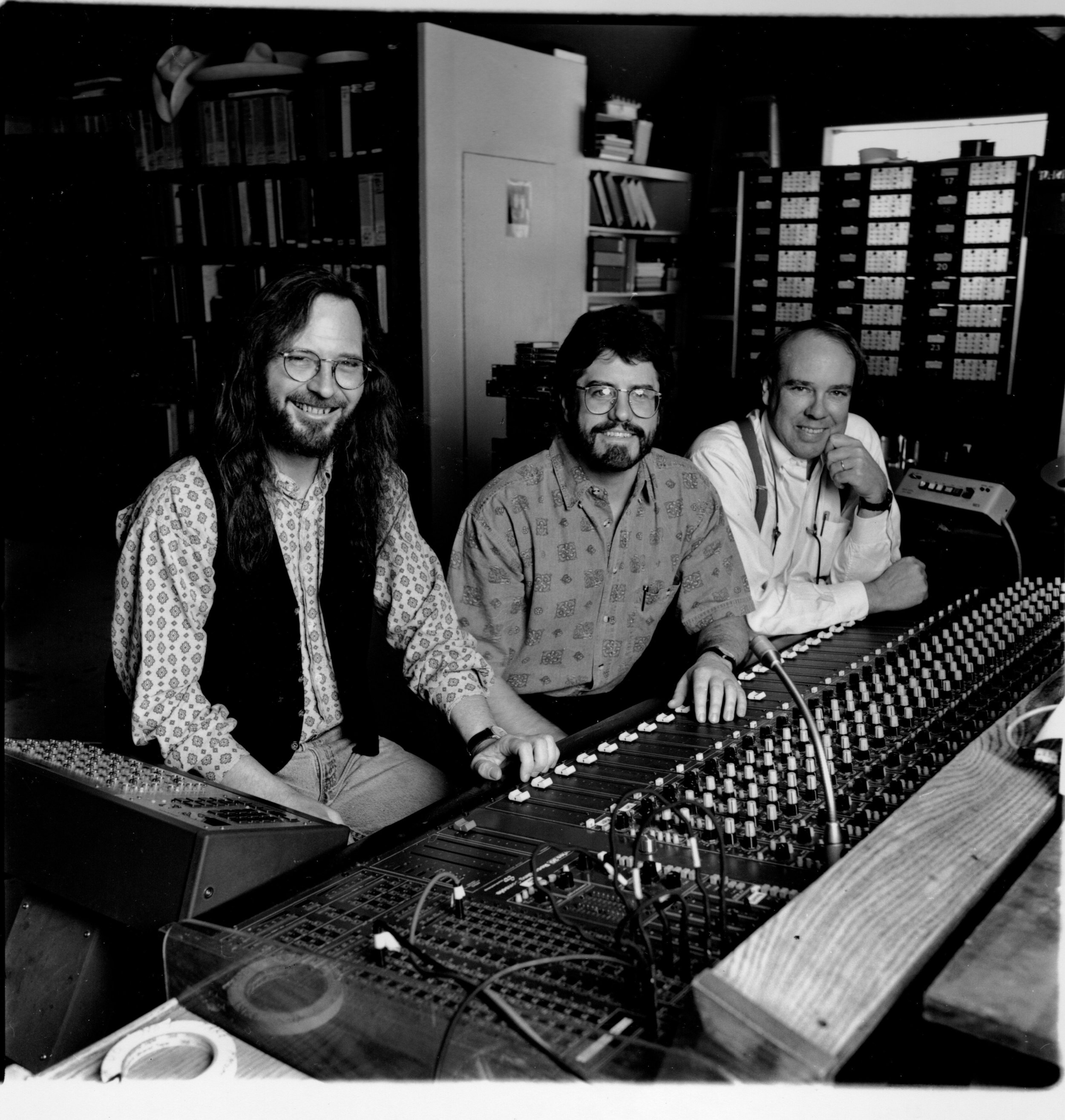 """America's Dulcimer Champion"", David Schnaufer with John Lomax III and co-producer Mark Miller. Mark now produces Garth Brooks."