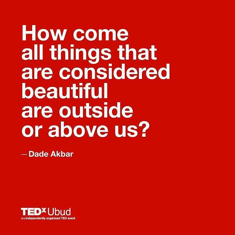Dade Akbar got some etching to say about our current standard of beauty. Link is on our bio. #tedxubud #tedx #warteggourmet  http://ift.tt/29YBgG8