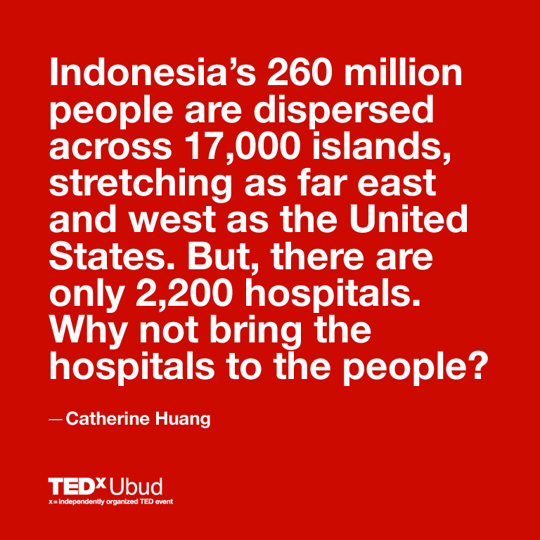 Catherine Huang and doctorSHARE are converting an oil barge into a floating hospital to bring free healthcare to millions of people living in remote islands of eastern Indonesia.