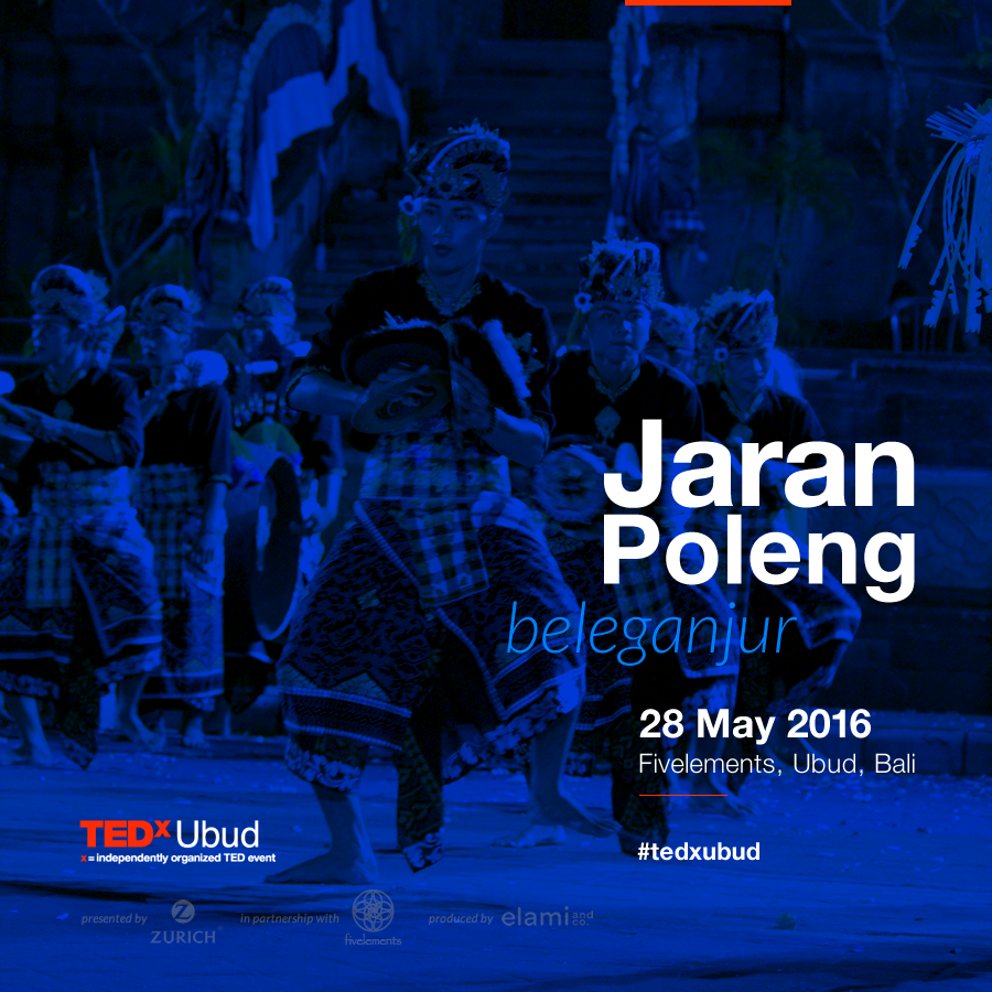 Jaran Poleng is a group of 21 young men from Payangan, Gianyar creating their own music within the traditions of beleganjur gamelan. The beleganjur gamelan includes 7 types of musical instruments, mainly percussive. The original purpose of beleganjur was to accompany armies into battle and strike fear into the hearts of the enemy. Gamelan beleganjur literally means gamelan of walking warriors. The Jaran Poleng group recently placed in a regional competition in Gianyar representing Payangan sub-district.