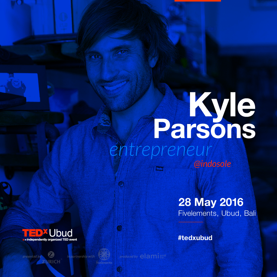 With 15 years experience in action sports and fashion retail (including brands Ray Ban and Bern) Kyle now runs Indosole out of San Francisco; however, the 100% organic manufacturing process takes place in Bali, staffed by professional Indonesian craftspeople.    Kyle Parsons makes a living from your trash, in particular, your old tires. His concern for the waste disposal challenges in Bali—an island he visited and became enamored with during a surf trip in 2004—led him to eventually found Indosole, a company that repurposes Indonesia's end-of-life tires into soles for footwear.   Sadly, more than one billion waste tires end up in landfills worldwide and in tropical islands like Bali, it can become breeding grounds for mosquitos, which the leads to the spread of malaria and dengue fever. Or they are burned for cheap fuel, leading to toxic oils and fumes.