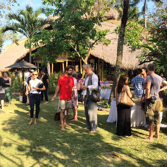 Last coffee break on the @fivelementsbali lawn #TEDxUbud #tedx
