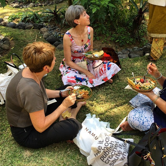 Lunch time on the lawn at #TEDxUbud