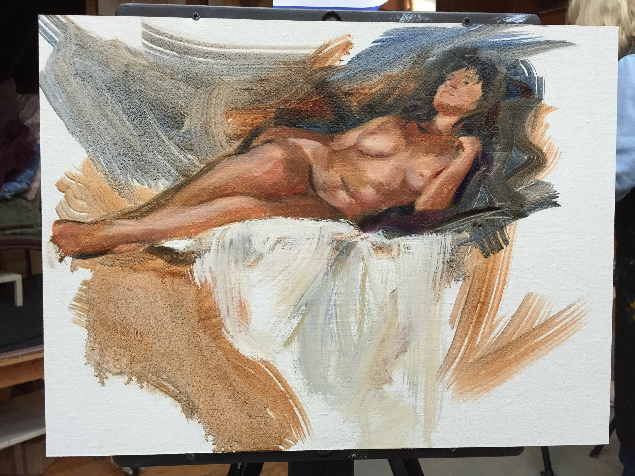 reclining nude - Oil