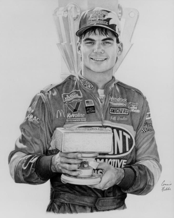 Jeff Gordon - GraphiteProperty of the Indianapolis Motor SpeedwayHall of Fame Museum