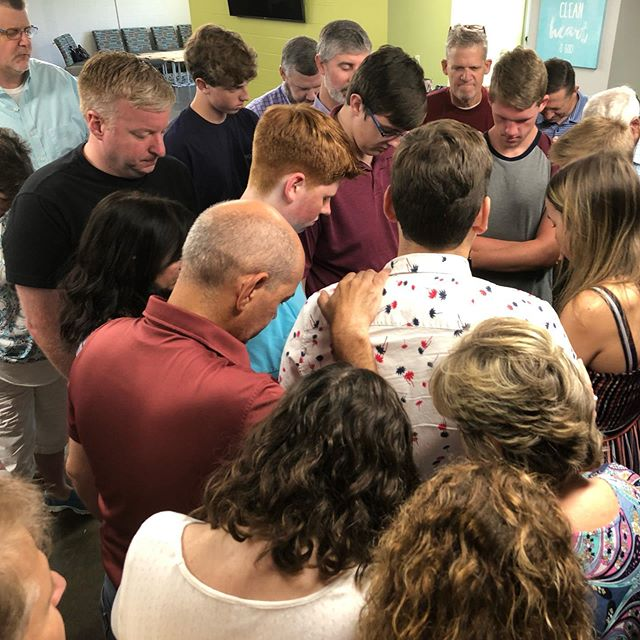 Praying over our 2020 Seniors this morning @ the Senior Breakfast. Love our church family and our Seniors.