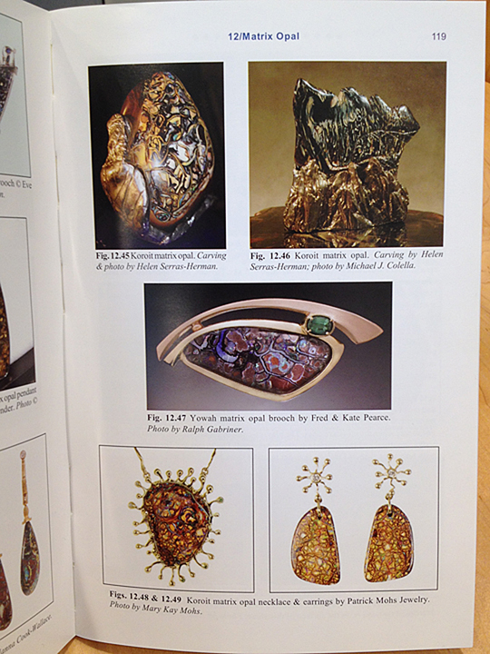 Koroit Opal Islands Necklace and Earrings on page 119 of Exotic Gems, Volume 3