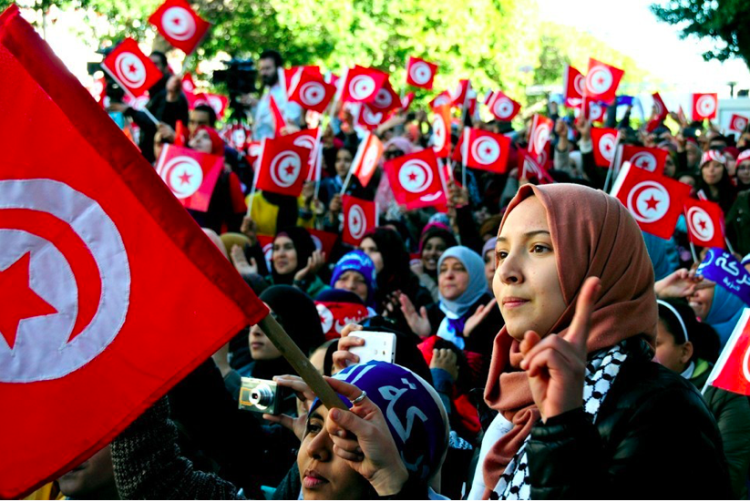 Celebration of the 5th anniversary of the Arab Spring in Tunisia, image courtesy of  The Atlantic