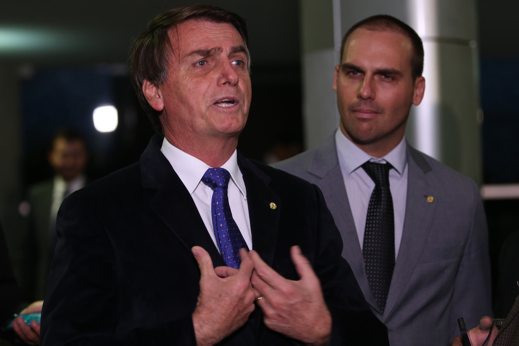 Jair Bolsonaro (left)