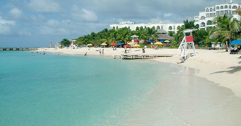 A beach club in one of Jamacia's more popular tourist destinations,Montego Bay