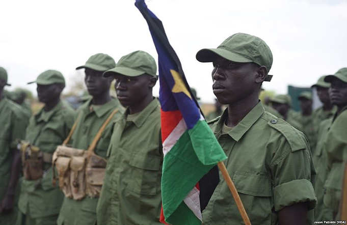 Opposition (SPLM-IO) soldiers in South Sudan's capital city.