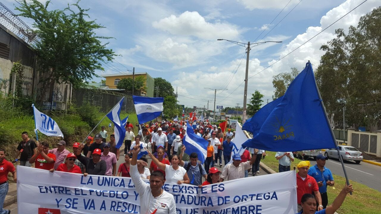 Nicaraguans protests against President Ortega.