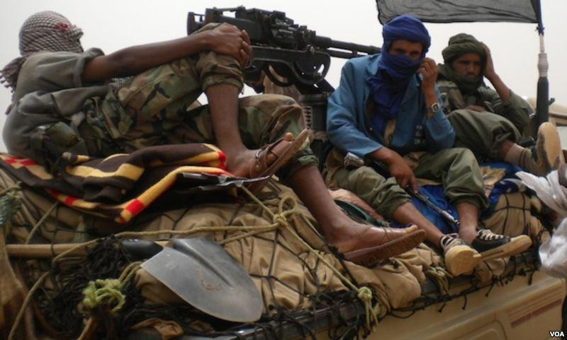 Rebels from jihadist group Ansar Dine in Mali