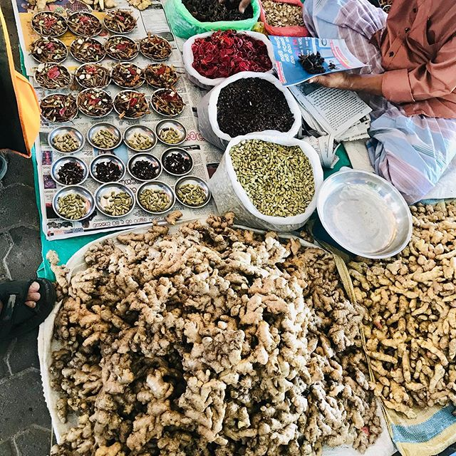 Spices at a seaside market in Negombo