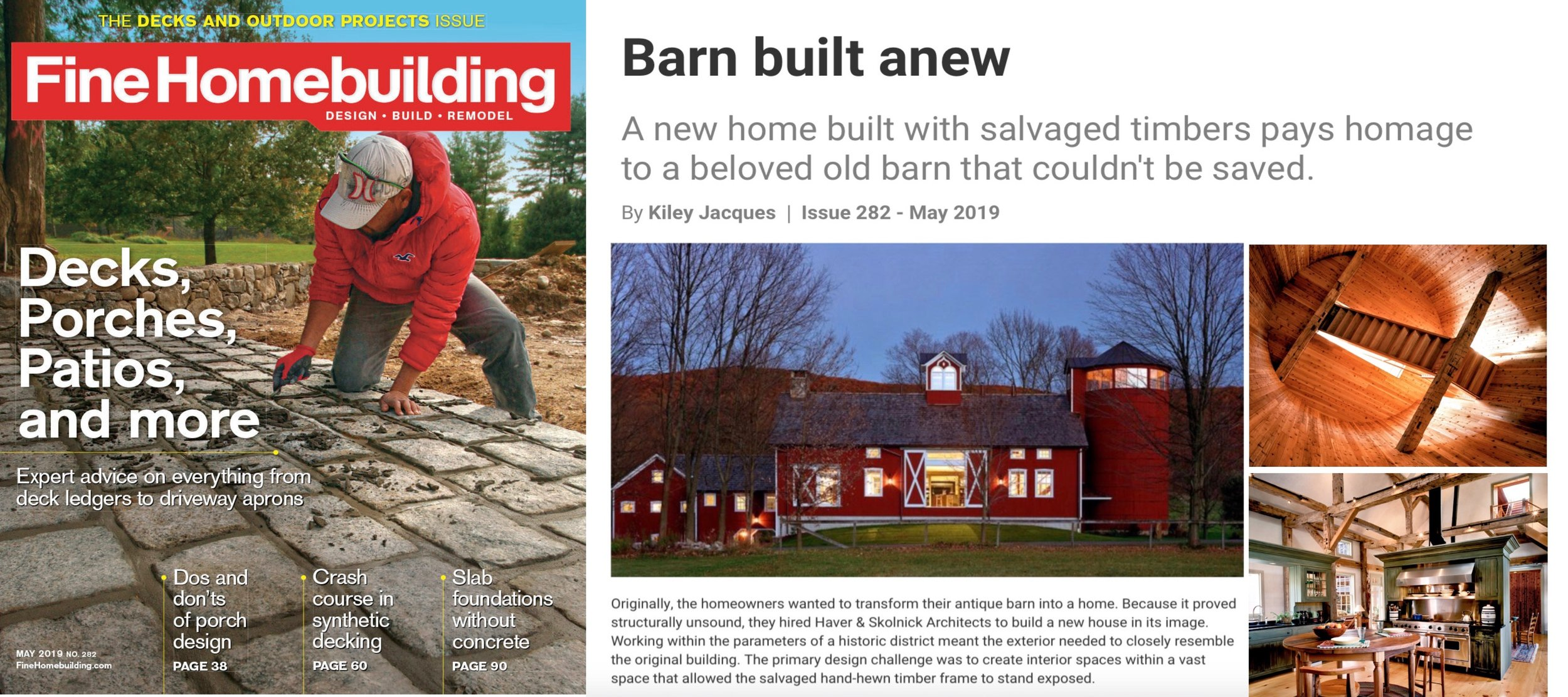 "- ""Barn Built Anew"", as featured in FINE HOMEBUILDING. Click on image for more."