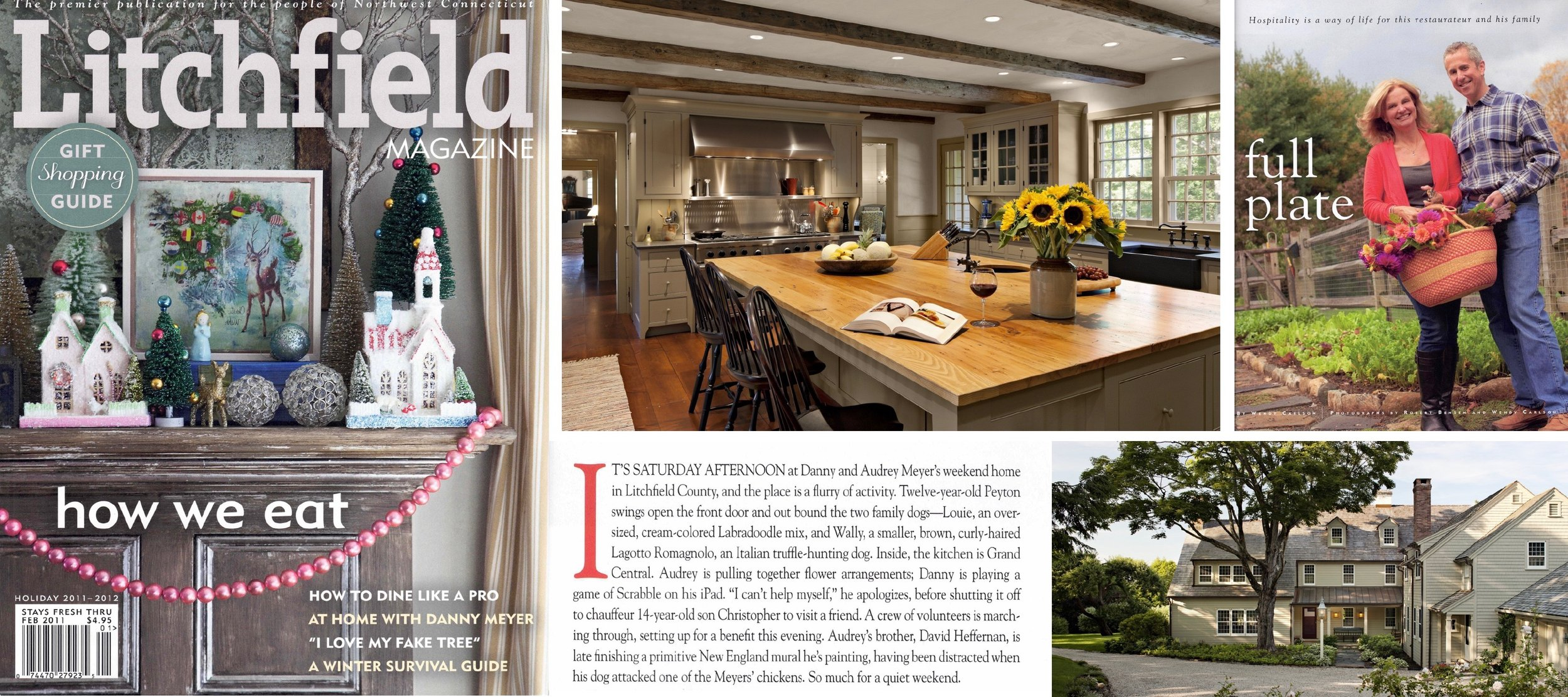 "- ""Full Plate, at Home with Audrey & Danny Meyer,"" as featured in LITCHFIELD MAGAZINE. Click on image for more."