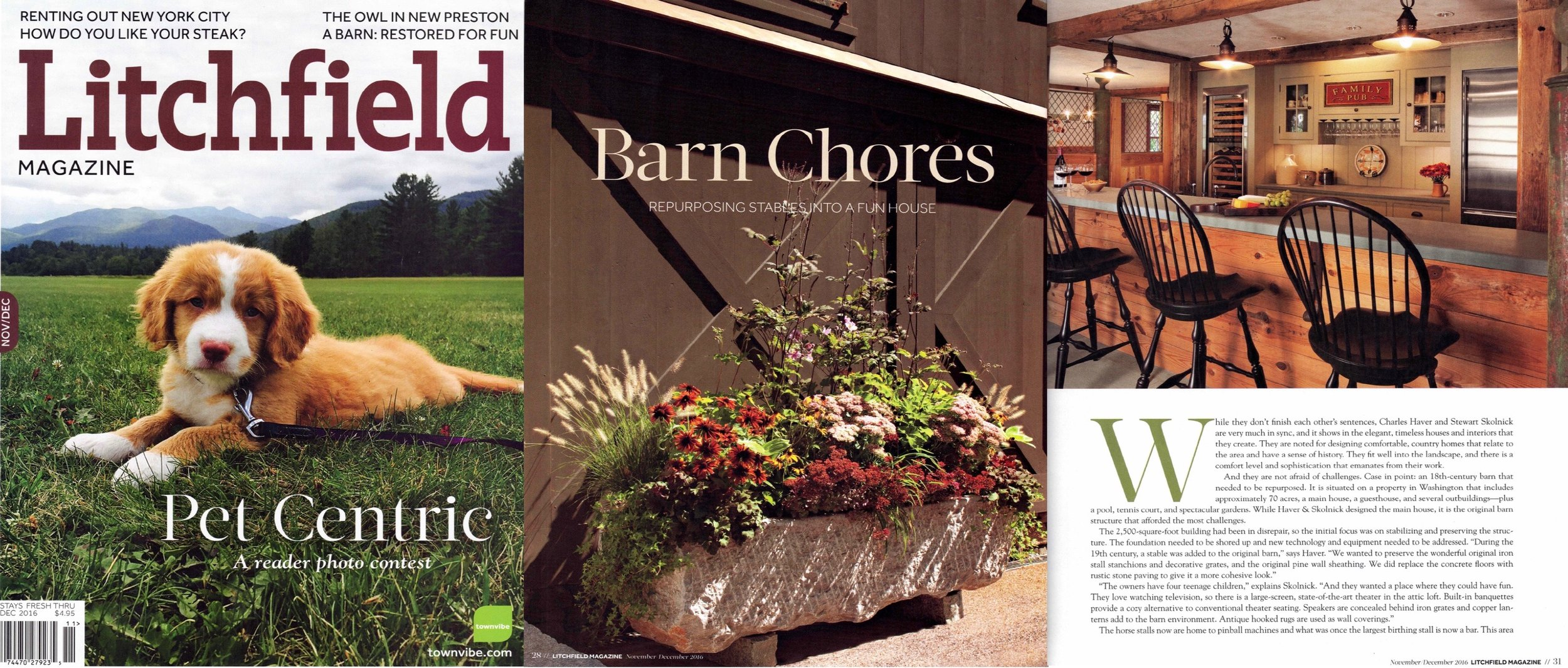 - Entertainment Barn as featured in LITCHFIELD MAGAZINE. Click on image for more.