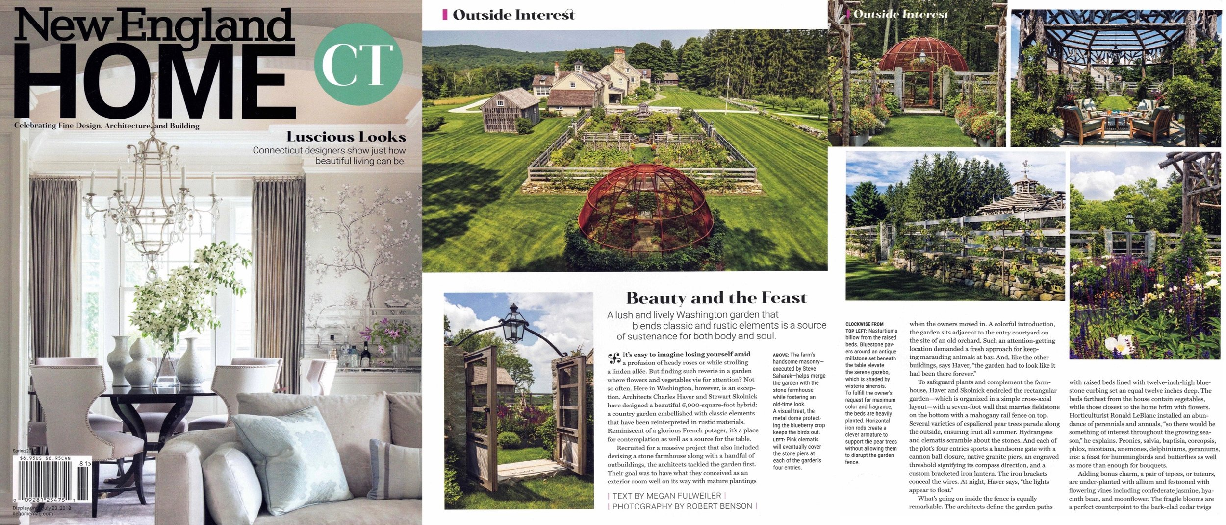 - Farmhouse Garden as featured in NEW ENGLAND HOME CT. Click on image for more.