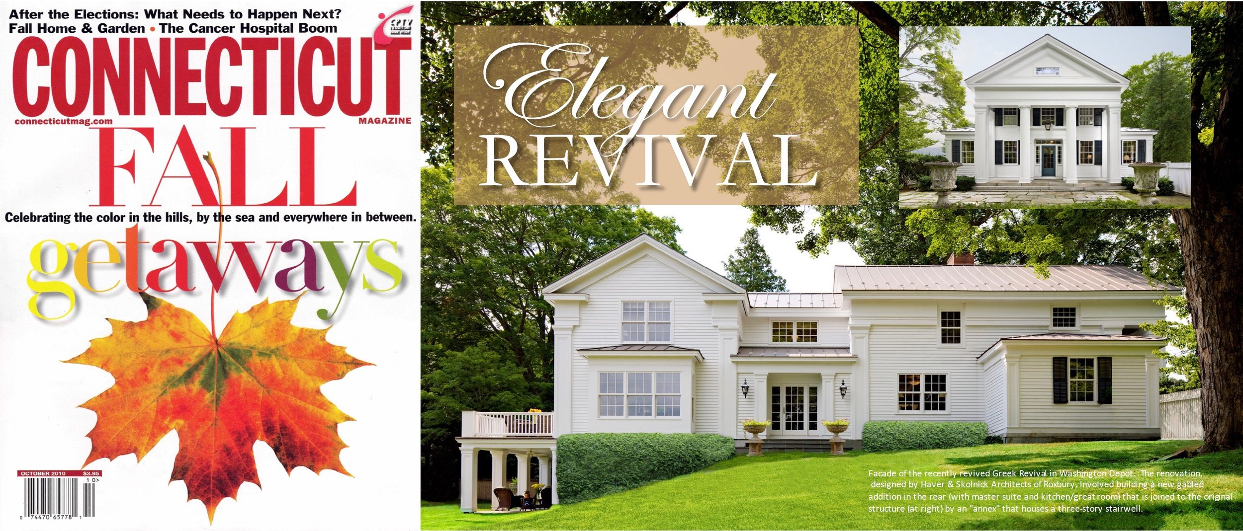- Greek Revival Home as featured in CONNECTICUT MAGAZINE.