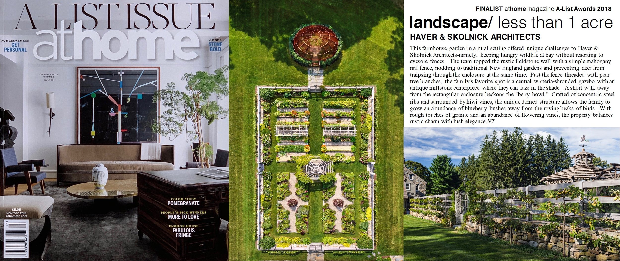 "- ""A-List Award"" finalist Farmhouse Garden, as featured in AT HOME."