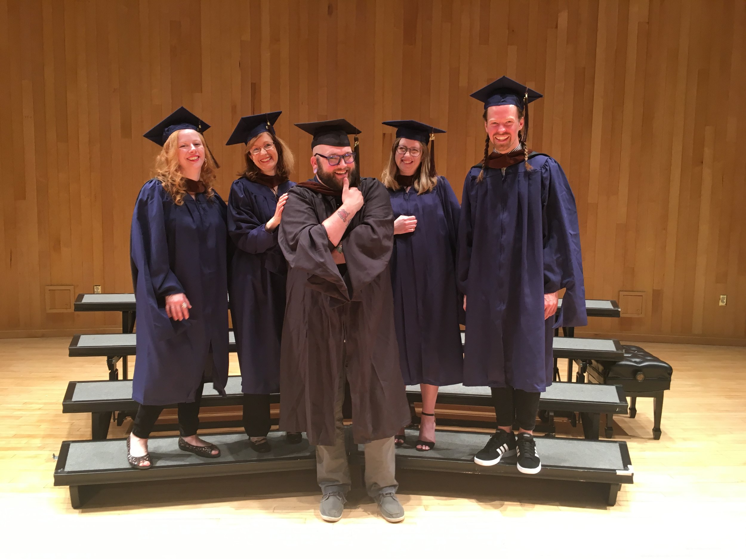 Myself and the 2019 MFA in Art grads • Photo by Judith Thorpe