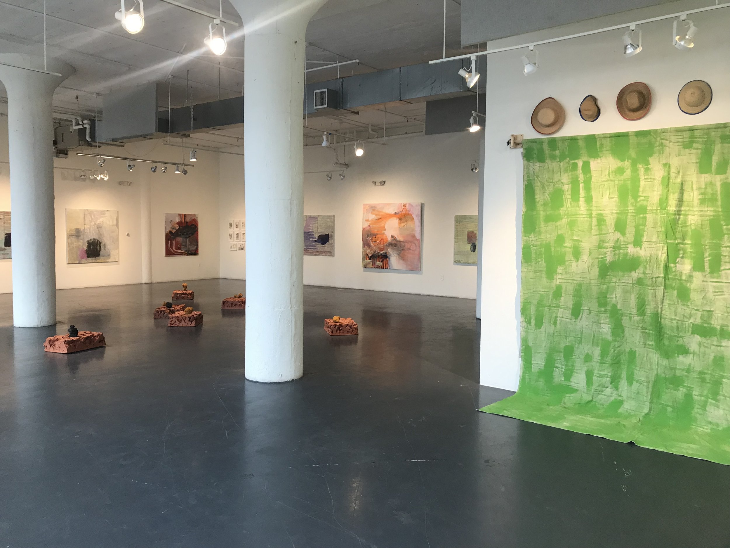 Installation view, Build a house, dig a hole