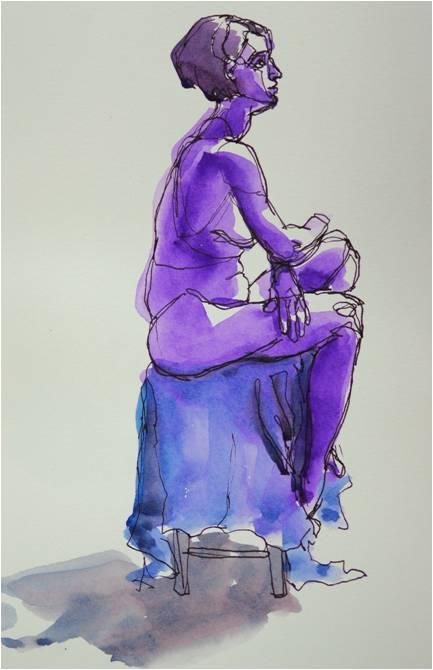 """""""Seated Figure Study"""" by Kuki Carthy"""