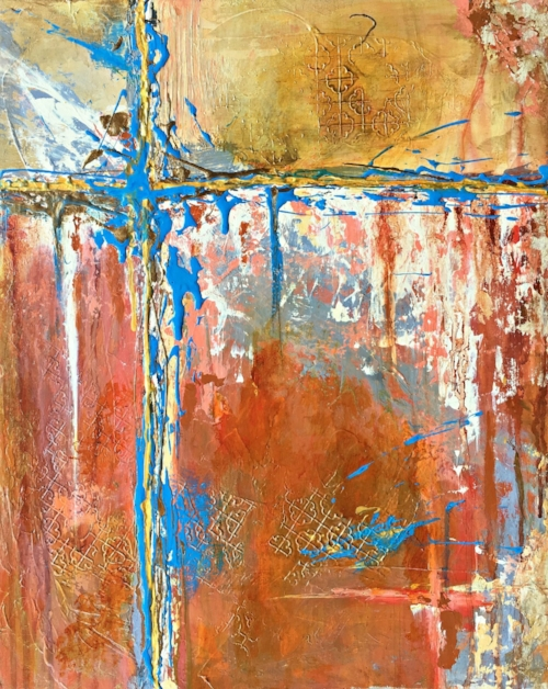 """Best of Show:Mary Mirabal """"At a Crossroad 2"""" (Acrylic)"""