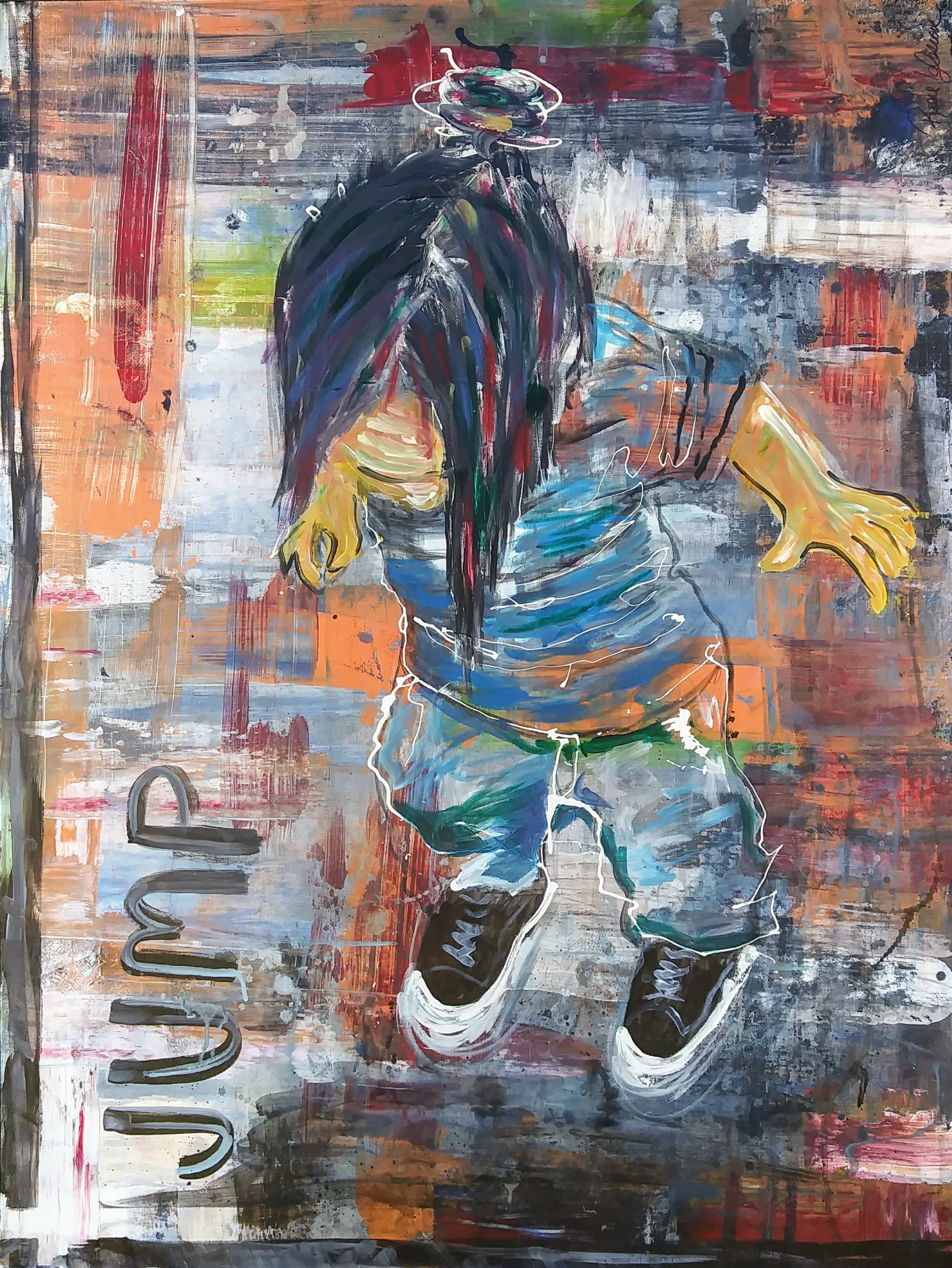 "Roseanne Iglesia ""Jump"" Acrylic"