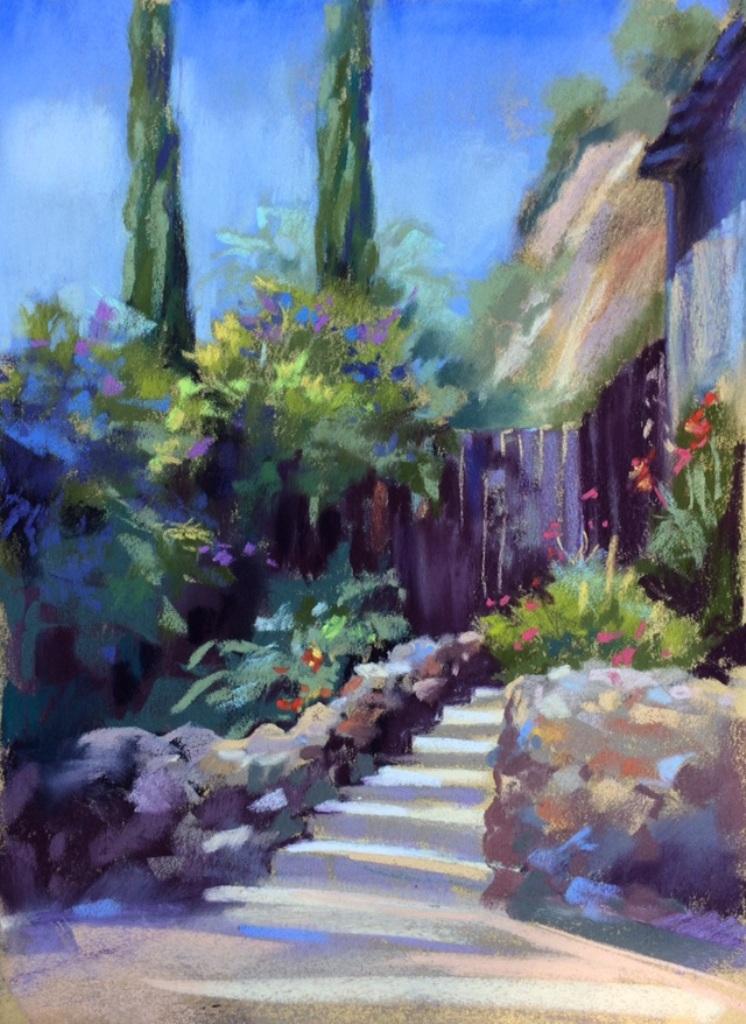 California Courtyard  12X9 pastel (1).jpg