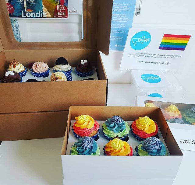 Some #pride themed Friday treats in the office today and a small fundraiser for our #pride charirty #ShoutOut. Happy Pride Everyone!
