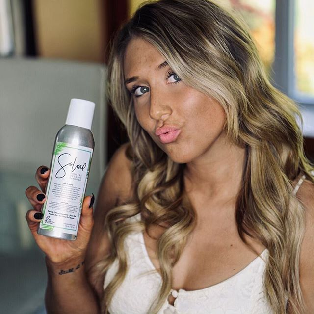 Yes! You can use our Instant Airbrush self-tanner on your face. In fact, it is our favorite place to apply it! Just shake, and spray!