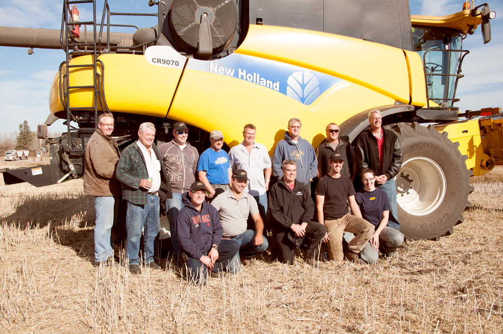 Combine drivers at our 2013 Big Field Harvest