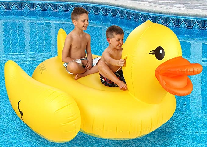 Giant Rubber Duckie Pool Floaty