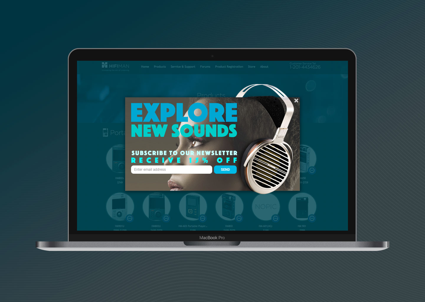 HiFiMan - Pop-up ad design