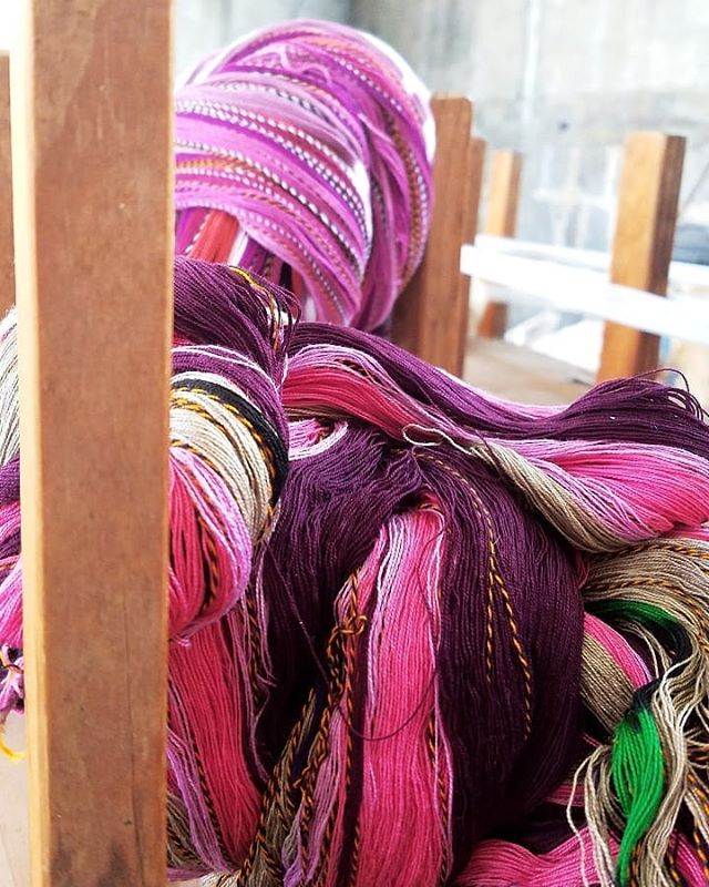 Dyed, designed and waiting to be woven! :) #learntoweave #weavingclass #guatemala