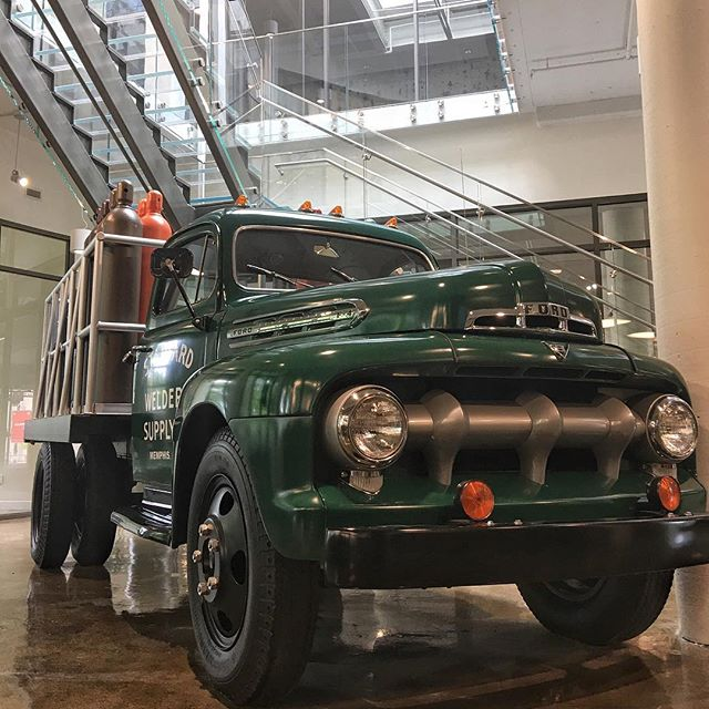 We had the pleasure of cleaning this 1951 Ford F-4 for nexAir. This was one of their first delivery trucks and is now on display at their new corporate headquarters at Crosstown Concourse. #detailing #detailersofinstagram #museumdetail #nexair #ford #f4 #deliverytruck #welding #gas #fineline #memphis #crosstownconcourse