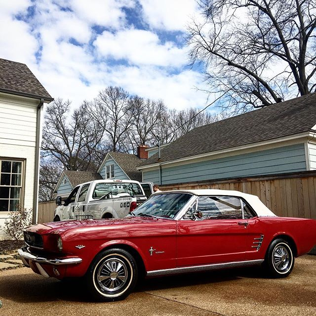 1966 Ford Mustang Convertible after a fresh coat of wax!